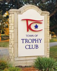 Town of Trophy Club Sign