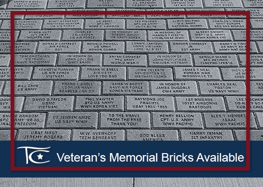 Veterans Memorial Bricks Available